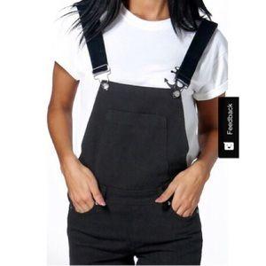 afe87fa2d4a Boohoo Jeans - Boohoo petite Brooke Denim Dungarees overalls